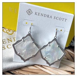 Kendra Scott Silver Kirsten Ivory MOP Drop Earring